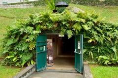Ingang aan het Museum van de Slagdoos bij Fort het Inblikken in Singapore royalty-vrije stock foto's