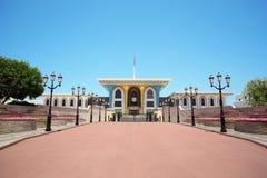 Ingang aan het Paleis van de Sultan in Oman in centrum Stock Foto