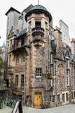 Ingang aan het Schrijvers` Museum in Edinburgh, Schotland stock foto