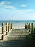 Ingang aan het strand Stock Foto