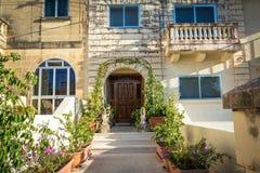 Ingang aan huis, Malta Stock Afbeeldingen