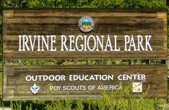 Ingang aan Irvine Regional Park royalty-vrije stock foto's