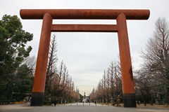 Ingang aan Japanse Tempel Royalty-vrije Stock Foto's
