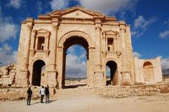 Ingang aan Jerash Royalty-vrije Stock Fotografie