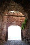 Ingang aan Kasteel in Kastamonu stock foto's