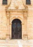 Ingang aan Klooster Maagdelijk Del Saliente Stock Foto's