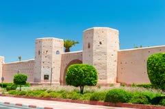 Ingang aan Koninklijk Mansour Marrakech royalty-vrije stock fotografie