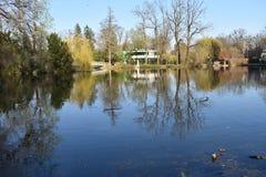 Ingang aan Maksimir-Park in Zagreb royalty-vrije stock foto