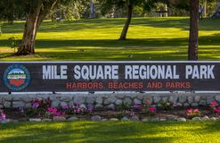 Ingang aan Mijl Vierkant Regionaal Park royalty-vrije stock afbeeldingen