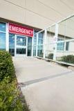Ingang aan Noodsituatiezaal bij het Ziekenhuis stock afbeeldingen
