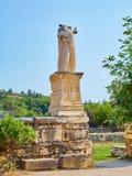 Ingang aan Odeon van Agrippa Agora van Athene, Griekenland royalty-vrije stock afbeelding