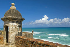 Ingang aan Oud San Juan Royalty-vrije Stock Fotografie