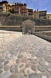 Ingang aan oud versterkt centrum van Briançon Royalty-vrije Stock Fotografie