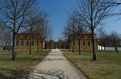 Ingang aan palais Seehof dichtbij de stad Bamberg, Duitsland royalty-vrije stock afbeelding