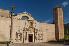 Ingang aan Poblet-klooster stock foto