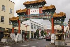 Ingang aan Portland chinatown stock afbeelding