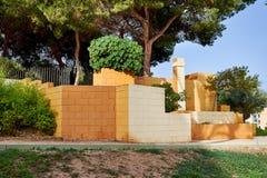 Ingang aan Reina Sofia Park Guardamar del Segura, Valencia, Spanje Royalty-vrije Stock Foto's