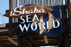 Ingang aan Ushaka-overzeese wereld Stock Foto's