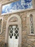 Ingang aan Vrijmetselaars- Initiatie goed in Sintra Royal Palace Stock Afbeeldingen