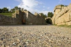 Ingang bij het oude stadion van Olympia in Griekenland royalty-vrije stock foto's