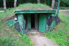 Ingang in bunker Royalty-vrije Stock Foto's