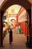 ingang De bels van Zaouiasidi abbes marrakech marokko royalty-vrije stock fotografie
