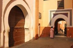 ingang De bels van Zaouiasidi abbes marrakech marokko royalty-vrije stock foto