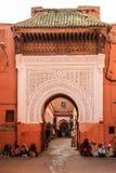ingang De bels van Zaouiasidi abbes marrakech marokko royalty-vrije stock afbeeldingen