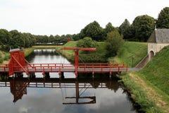 Ingang en brug Stock Afbeelding