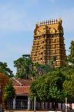 Ingang en gopuram torens van de Hindoese tempel van Nallur Kandaswamy aan Lord Murugan Jaffna Sri Lanka Royalty-vrije Stock Foto