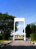 Ingang, het Gedenkteken van de Oorlog Kranji Stock Foto's