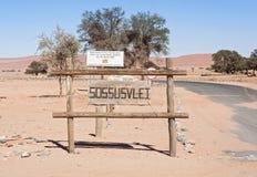 Ingang Sossusvlei, Namibië royalty-vrije stock afbeelding