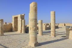 Ingang van Balcon bij roman dorp van Avdat Stock Afbeeldingen