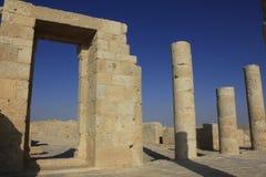 Ingang van Balcon bij roman dorp van Avdat Royalty-vrije Stock Fotografie