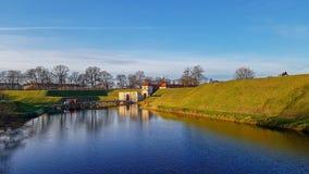 Ingang van Citadel Kastellet, die in Kopenhagen, Denemarken wordt gevestigd stock foto