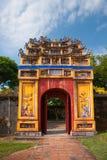 Ingang van Citadel, Tint, Vietnam. stock afbeelding