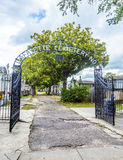 Ingang van de begraafplaats van Lafayette in New Orleans royalty-vrije stock afbeelding
