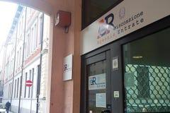 Ingang van de bureaus van het Opbrengstagentschap van Italië royalty-vrije stock foto