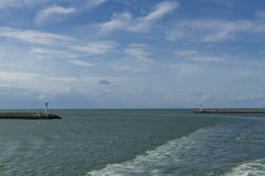 """Ingang van de Dunkirk†de """"moderne dag aan haven Stock Afbeelding"""