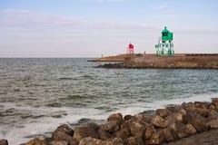 Ingang van de haven van Stavoren, Nederland Royalty-vrije Stock Afbeelding