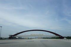 Ingang van 2de Penang Bridg Royalty-vrije Stock Afbeelding