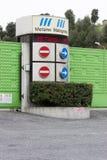 Ingang van de stortplaats Malagrotta in Rome (Italië) Royalty-vrije Stock Fotografie