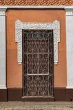 Ingang van een koloniaal huis in Trinidad, Cuba Royalty-vrije Stock Foto's