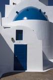 Ingang van een orthodoxe Griekse kerk Stock Foto
