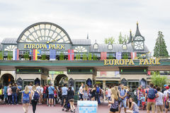 Ingang van Europa Park in Roest, Duitsland royalty-vrije stock foto