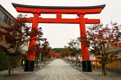 Ingang van Fushimi Inari, Kyoto Stock Foto