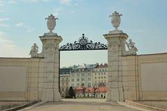 Ingang van het Belvedere Paleis, Wenen Royalty-vrije Stock Foto's