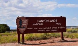 Ingang van het Canyonlands de Nationale Park Stock Foto