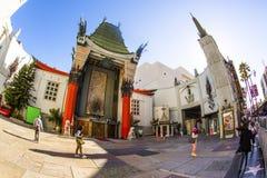 Ingang van het Chinese Theater van Grauman in Hollywood, Los Angeles Stock Fotografie