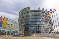 Ingang van het Europees Parlement Royalty-vrije Stock Afbeelding